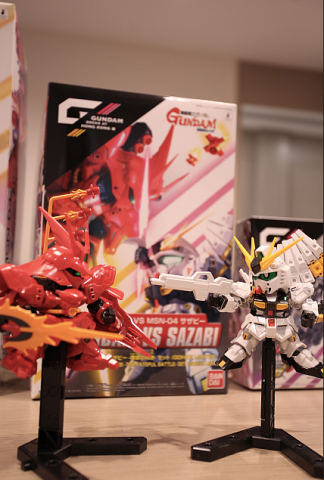 BB Nu GUNDAM VS SAZABI-THE FATEFUL BATTLE SET(GDHKIII LIMITED) $200